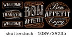 set of vintage lettering... | Shutterstock .eps vector #1089739235