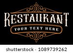 vintage lettering lettering... | Shutterstock .eps vector #1089739262