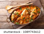 tasty rustic french food ... | Shutterstock . vector #1089743612