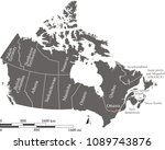canada map with provinces and... | Shutterstock .eps vector #1089743876