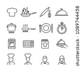 vector image set of cooking... | Shutterstock .eps vector #1089744458