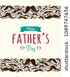 happy father's day   cute... | Shutterstock .eps vector #1089747656