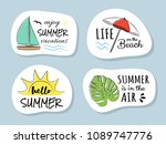 summertime   elements with... | Shutterstock .eps vector #1089747776