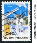 Small photo of FINLAND - CIRCA 1968: stamp printed by Finland, shows Saima Canal, circa 1968