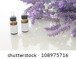 lavender spa oil with blank... | Shutterstock . vector #108975716