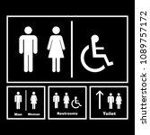 restroom signs vector icon | Shutterstock .eps vector #1089757172