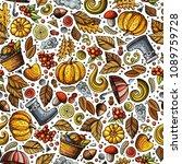 Cartoon Cute Hand Drawn Autumn...
