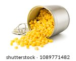 corn was poured out with an... | Shutterstock . vector #1089771482