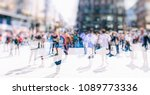 crowd of anonymous people... | Shutterstock . vector #1089773336