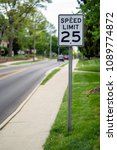 Small photo of Twenty Five Miles an Hour Sign