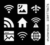 internet related set of 9 icons ... | Shutterstock .eps vector #1089778676