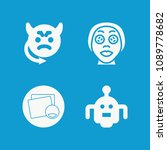 face related set of 4 icons... | Shutterstock .eps vector #1089778682
