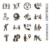 people related set of 16 icons...   Shutterstock .eps vector #1089780812