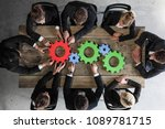 business people with colorful...   Shutterstock . vector #1089781715