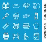 food related set of 16 icons... | Shutterstock .eps vector #1089782132