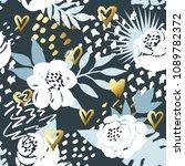 beautiful seamless vector... | Shutterstock .eps vector #1089782372