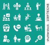 people related set of 16 icons... | Shutterstock .eps vector #1089783248