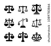 justice related set of 9 icons... | Shutterstock .eps vector #1089783866