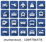 rounded square icons set of... | Shutterstock .eps vector #1089786578