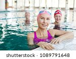 healthy mature sportswoman and... | Shutterstock . vector #1089791648