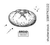 bread vector drawing. bakery... | Shutterstock .eps vector #1089792122