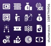 business icon set   filled... | Shutterstock .eps vector #1089794906