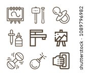 tool related set of 9 icons... | Shutterstock .eps vector #1089796982