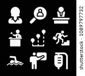 person related set of 9 icons...   Shutterstock .eps vector #1089797732