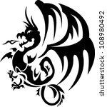 dragon tattoo | Shutterstock .eps vector #108980492