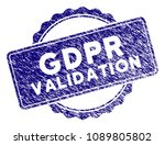 gdpr validation stamp seal.... | Shutterstock .eps vector #1089805802