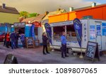 fish and chips street sale in... | Shutterstock . vector #1089807065