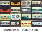 collection of various vintage... | Shutterstock . vector #1089815708