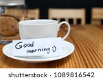 breakfast ritual of coffee and... | Shutterstock . vector #1089816542