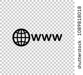 symbol of internet with globe... | Shutterstock .eps vector #1089818018