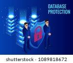 isometric database protection... | Shutterstock .eps vector #1089818672