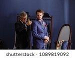 mature professional tailor...   Shutterstock . vector #1089819092