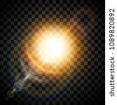 glow light effect. star burst... | Shutterstock .eps vector #1089820892