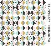 seamless pattern design  ... | Shutterstock .eps vector #1089821456