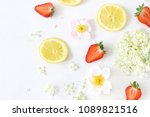 summer fruit composition.... | Shutterstock . vector #1089821516