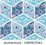 seamless pattern in vintage... | Shutterstock .eps vector #1089825362