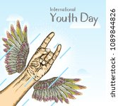 international youth day  is an... | Shutterstock .eps vector #1089844826