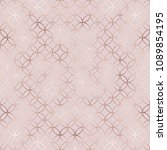 elegant rose gold moroccan...   Shutterstock .eps vector #1089854195