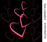 red heart icon isolated on... | Shutterstock .eps vector #1089857396