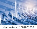 stock market or forex trading... | Shutterstock . vector #1089861098