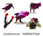 comic superhero actions in... | Shutterstock .eps vector #1089867968