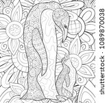 adult coloring book page the... | Shutterstock .eps vector #1089870038