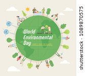world environmental day concept ... | Shutterstock .eps vector #1089870575