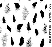vector seamless pattern with... | Shutterstock .eps vector #1089874808
