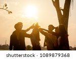 six young entrepreneur...   Shutterstock . vector #1089879368