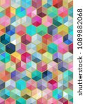 hexagon colorful background   Shutterstock .eps vector #1089882068